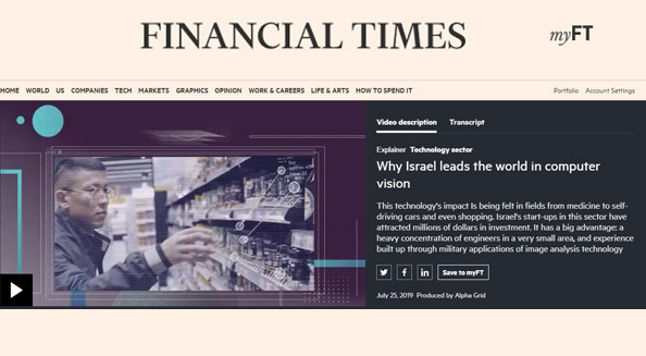 Financial Times: Why Israel leads the world in computer vision