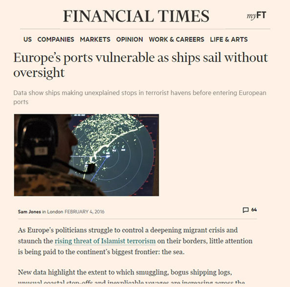 Financial Times: Europe's ports vulnerable as ships sail without oversight