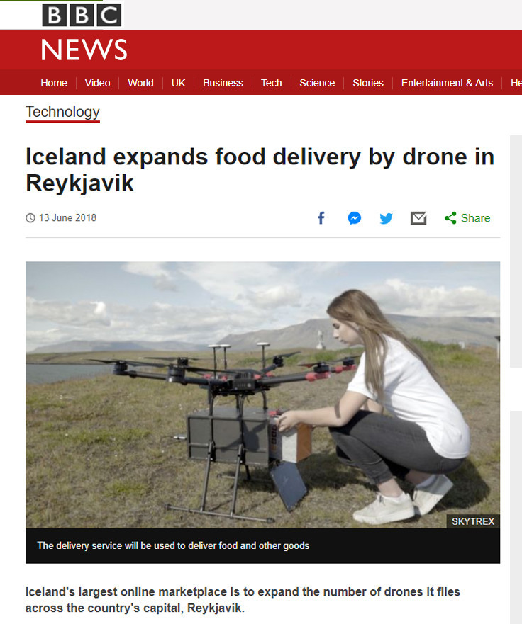 BBC News: Iceland expands food delivery by drone in Reykjavik