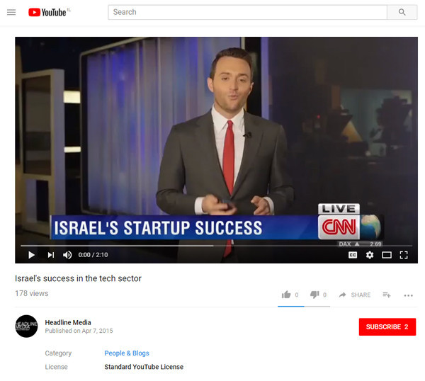 CNN: Israel's success in the tech sector